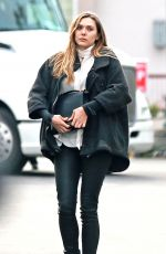 ELIZABETH OLSEN Out and About in Los Angeles 01/10/2017