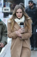 ELIZABETH OLSEN Out and About in Park City 01/20/2016