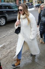 ELIZABETH OLSEN Out and About in Park City 01/22/2016