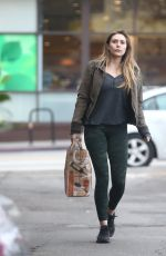 ELIZABETH OLSEN Out Shopping in Los Angeles 01/15/2017