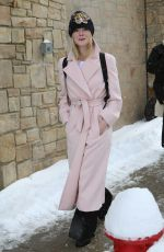 ELLE FANNING Out and About in Park City 01/22/2017