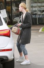 ELLE FANNING Out and About in Studio City 01/18/2017