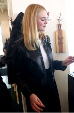 ELLE FANNING Out for Lunch in Park City 01/23/2017