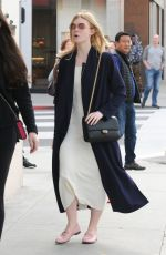 ELLE FANNING Out Shopping in Beverly Hills 01/21/2017