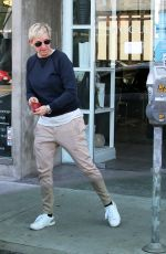 ELLEN DEGENERES Out and About in West Hollywood 01/06/2017