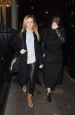 ELLIE GOULDING Leaves Arts Club Private Members Bar and Restaurant in London 01/26/2017