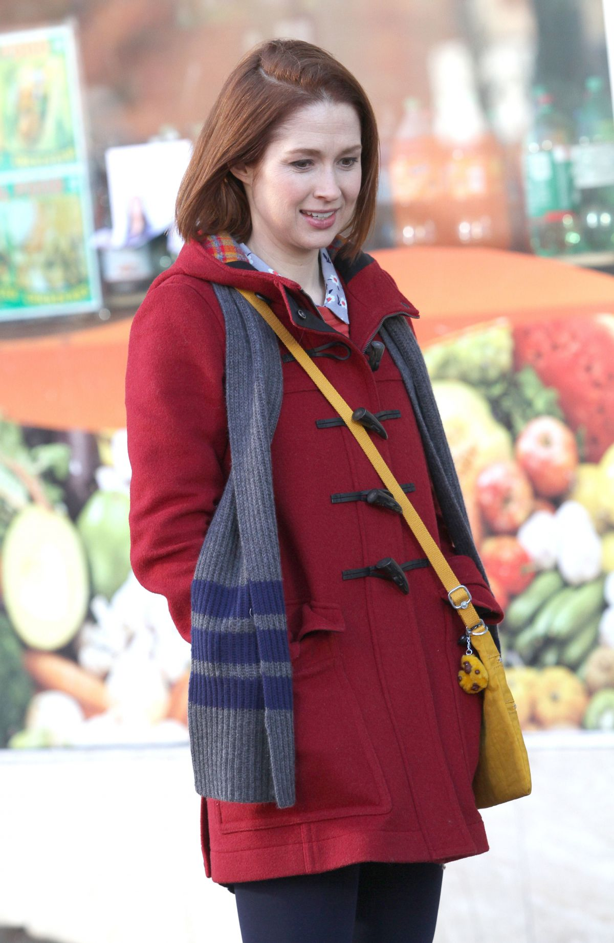 ELLIE KEMPER on the Set of