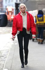 ELSA HOSK Out and About in New York 01/11/2017