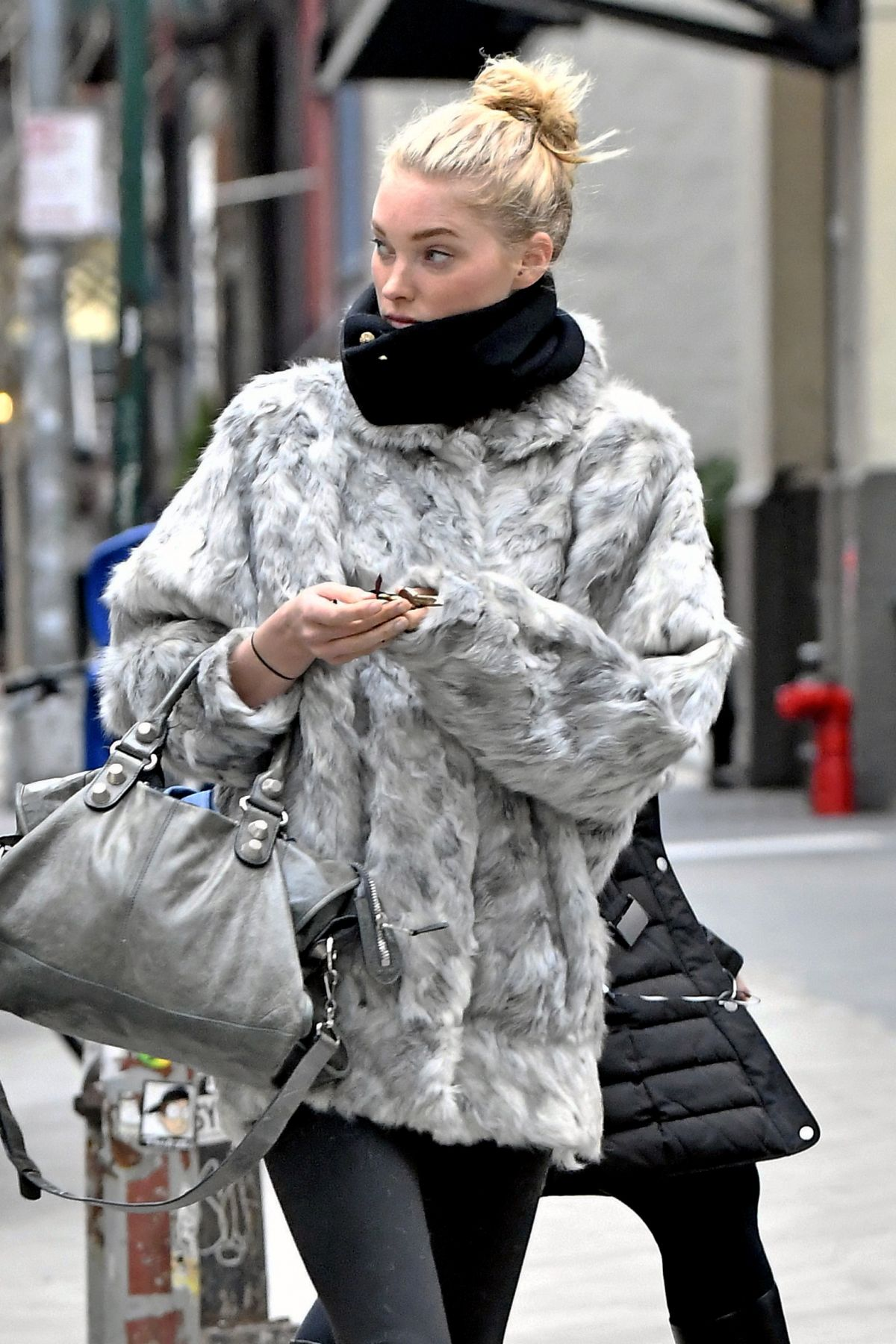 ELSA HOSK Out and About in New York 01/27/2017