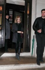 EMILY BLUNT and John Krasinski Out for Dinner at 34 Restaurant in London 01/25/2017