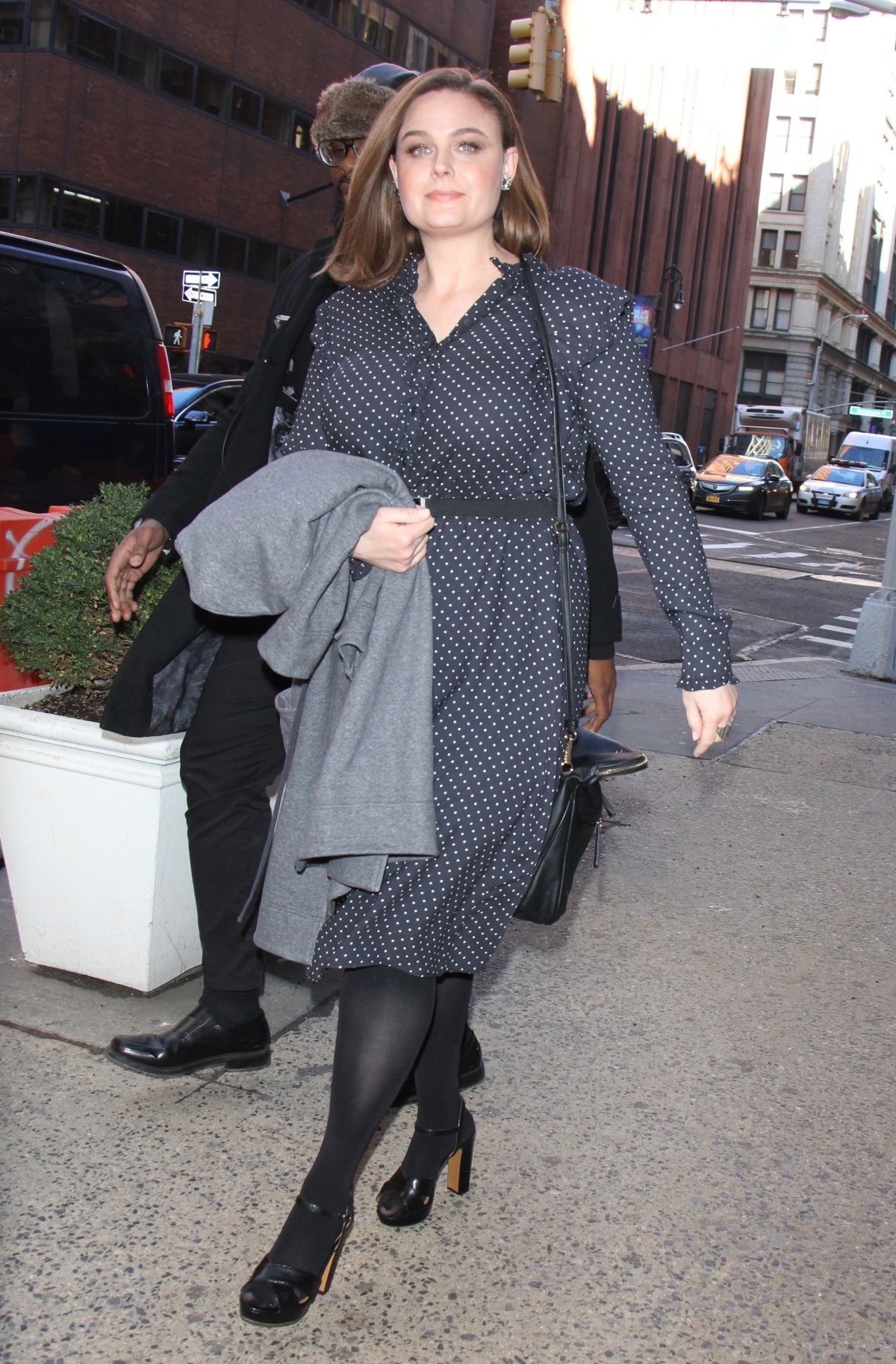 EMILY DESCHANEL Out and About in New York 01/19/2017