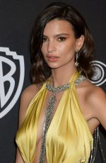 EMILY RATAJKOWSKI at Warner Bros. Pictures & Instyle's 18th Annual Golden Globes Party in Beverly Hills 01/08/2017