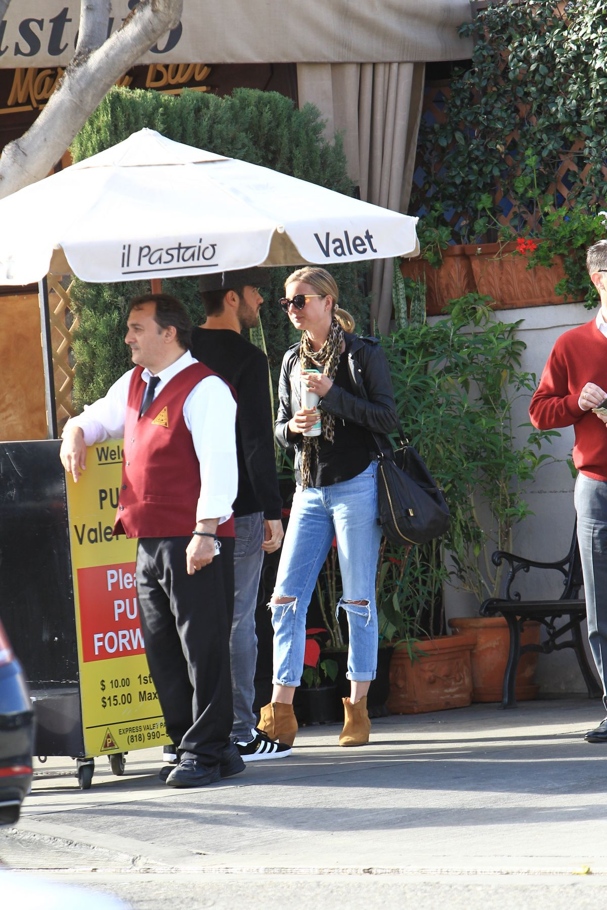EMILY VANCAMP Out for Lunch at Il Pastaio in Beverly Hills 01/11/2017