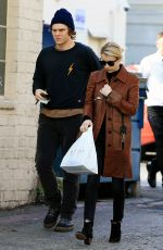 EMMA ROBERTS and Evan Peters Out in Los Angeles 01/24/2017