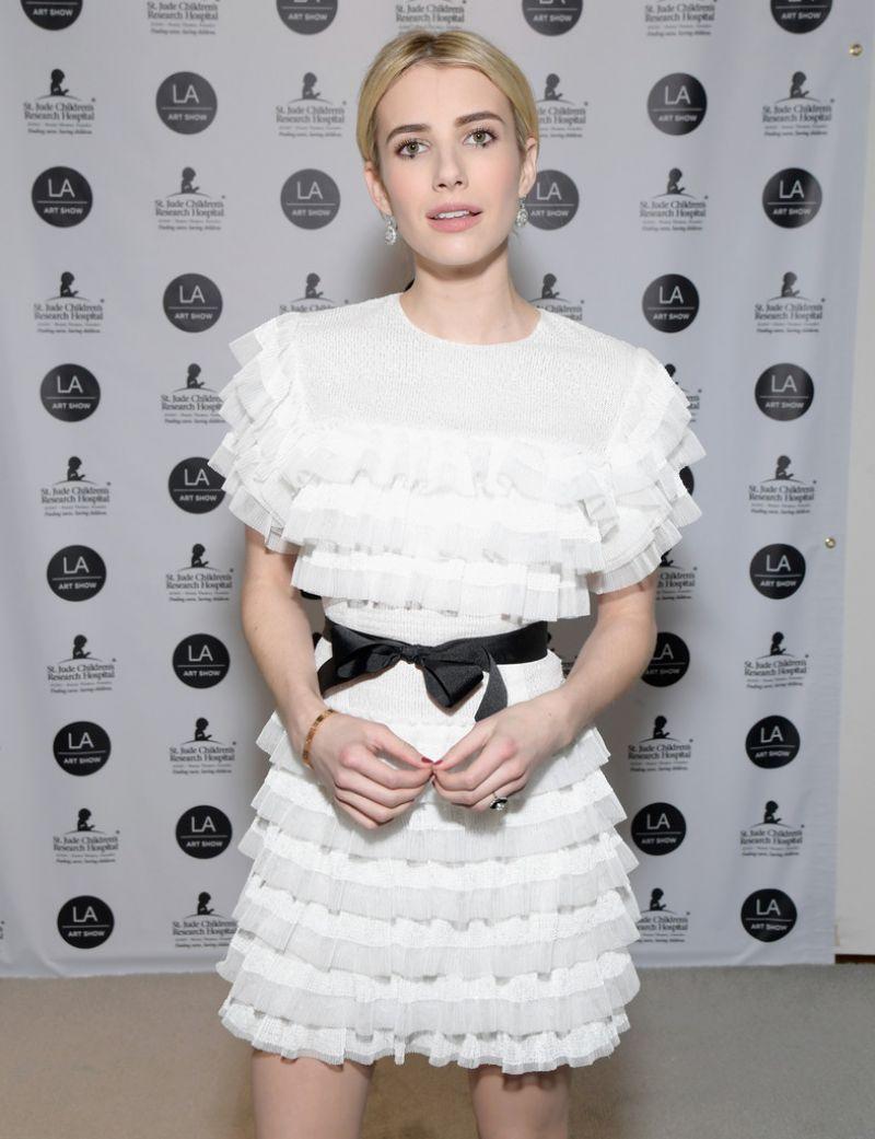 EMMA ROBERTS at LA Art Show 2017 Opening Night Premiere Benefitting St. Jude