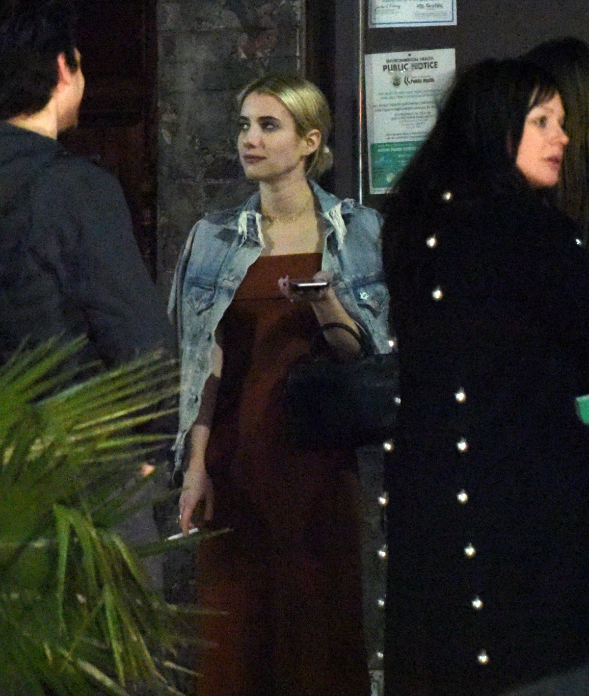 image Emma roberts and friends in hotel lobby
