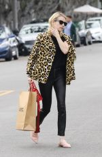 EMMA ROBERTS Shopping at A.P.C Store in Los Angeles 01/04/2017