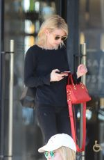 EMMA ROBERTS Shopping at Barneys New York in Beverly Hills 01/06/2017