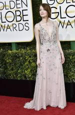 EMMA STONE at 74th Annual Golden Globe Awards in Beverly Hills 01/08/2017