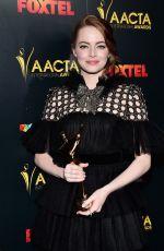 EMMA STONE at AACTA International Awards 2017 in Hollywood 01/06/2017