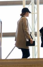EMMA STONE at LAX Airport in Los Angeles 01/09/2017