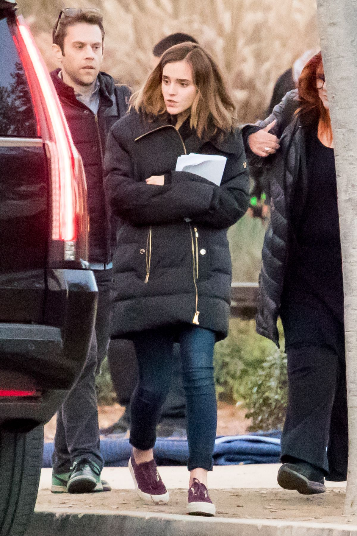 EMMA WATSON on the Set of