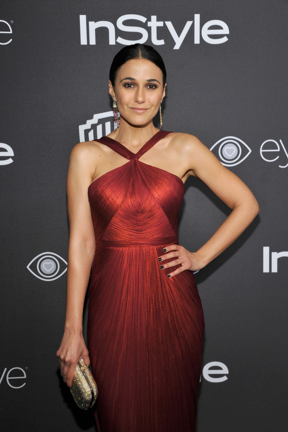 EMMANUELLE CHRIQUI at Warner Bros. Pictures & Instyle's 18th Annual Golden Globes Party in Beverly Hills 01/08/2017