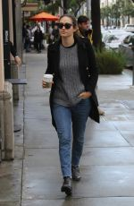 EMMY ROSSUM Out for Coffee in Beverly Hills 01/23/2017