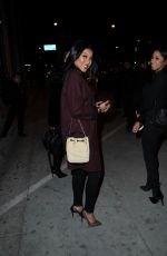 ENIKO PARRISH Leaves Sunset Towers Hotel in Los Angeles 01/27/2017