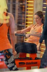ERIN ANDERS Does a Workout Segment at Good Morning America in New York 01/010/2017
