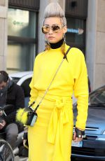 ESTHER QUEK Out and About in Milan 01/15/2017