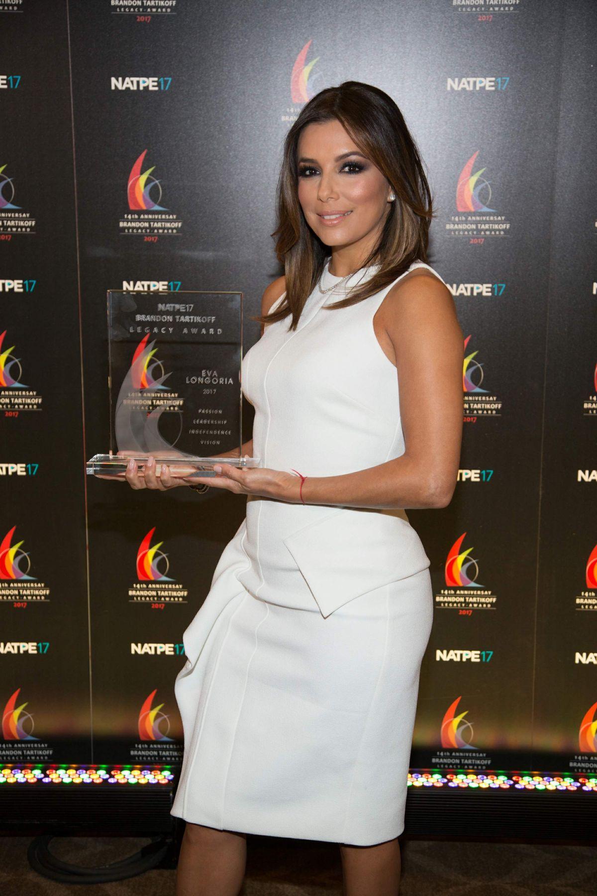 EVA LONGORIA at Natpe Brandon Tartikoff Legacy Award Ceremony in Miami 01/18/2017