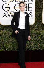 EVAN RACHEL WOOD at 74th Annual Golden Globe Awards in Beverly Hills 01/08/2017