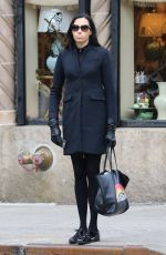 FAMKE JANSSEN Out and About in New York 01/20/2017