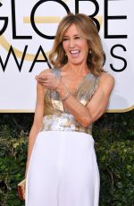 FELICITY HUFFMAN at 74th Annual Golden Globe Awards in Beverly Hills 01/08/2017