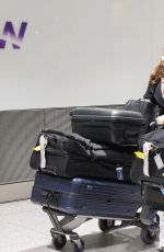FELICITY JONES Arrives at Heathrow Airport in London 01/16/2017