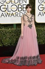FELICITY JONES at 74th Annual Golden Globe Awards in Beverly Hills 01/08/2017