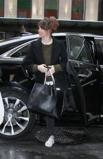FELICITY JONES Out and About in New York 01/10/2017