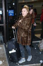 FLORENCE PUGH Arrives in Salt Lake City 01/20/2017