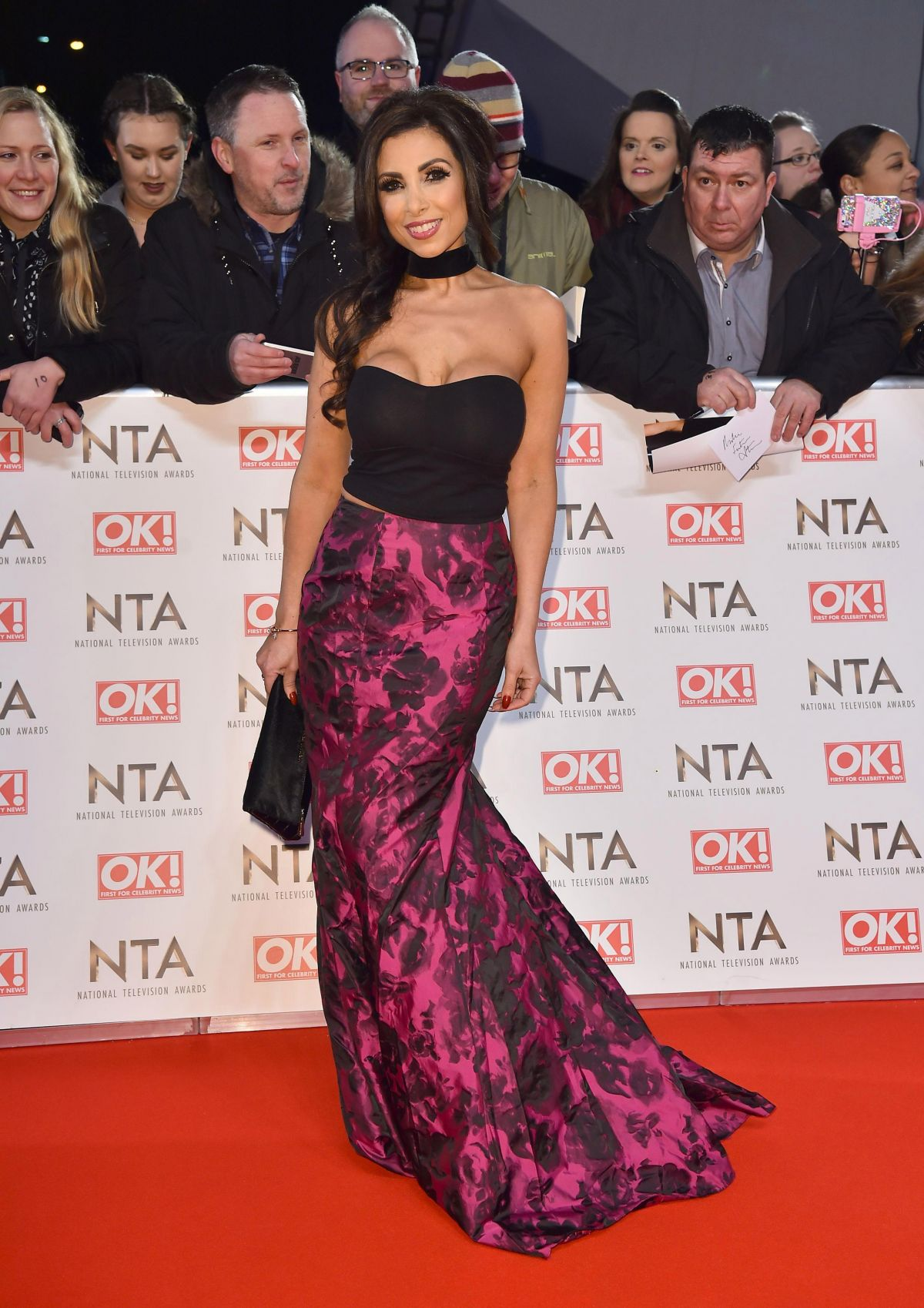 FRANCINE LEWIS at National Television Awards in London 01/25/2017