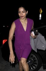 FREIDA PINTO at Catch LA in West Hollywood 01/11/2017