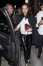 GAL GADOT at Catch LA in West Hollywood 01/28/2017