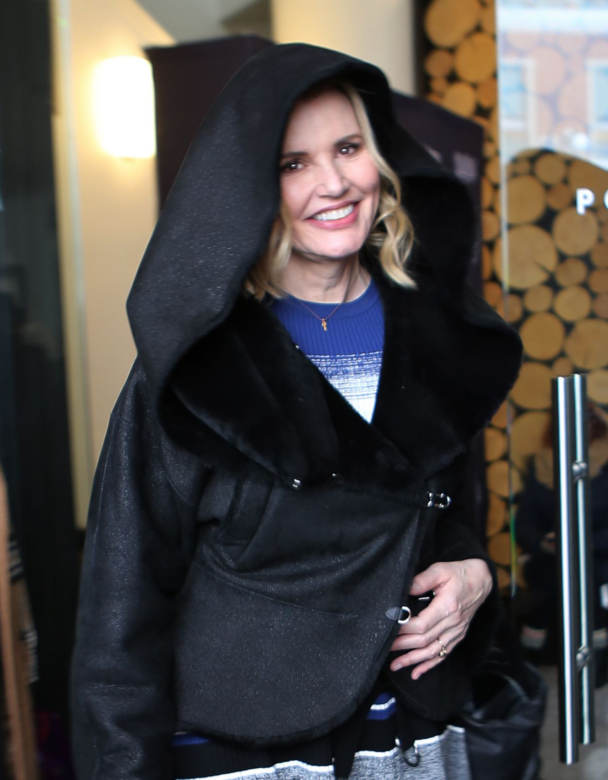 GEENA DAVIS Out in Park City 01/22/2017