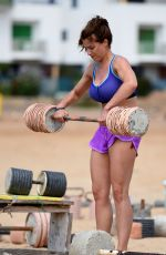GEMMA ATKINSON Working Out at a Beach in Cape Verde 01/09/2017