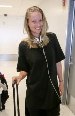 GENEVIEVE MORTON at LAX Airport in Los Angeles 12/27/2016