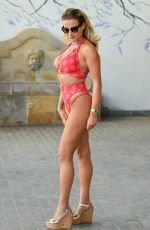GEORGIA KOUSOULOU in Bikini Filming Towie Special in Tenerife 01/30/2017