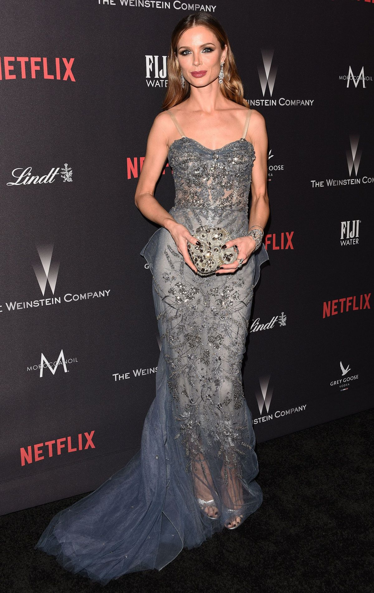 GEORGINA CHAPMAN at Weinstein Company and Netflix Golden Globe Party in Beverly Hills 01/08/2017