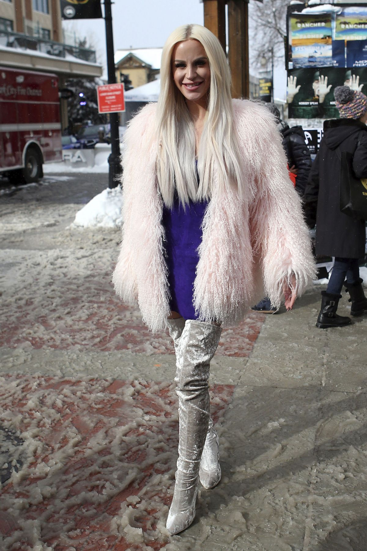 GIGI GORGEOUS Out in Park City 01/21/2017