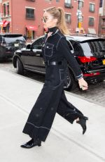 GIGI HADID Arrives at Her Apartment in New York 01/14/2017