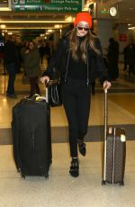 GIGI HADID at JFK Airport in New York 01/13/2017